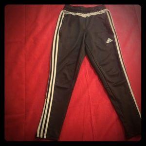 Adidas Workout Black Pants with zipper pockets!